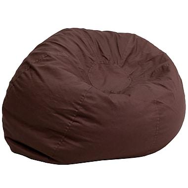 Flash Furniture Twill Cotton Bean Bag Chair, Brown (DGBEANLGSLDBN)
