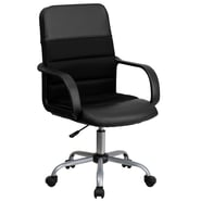 Flash Furniture Mid-Back Mesh and Leather Task Chair, Black
