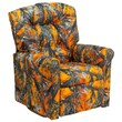 Flash Furniture Camouflage Fabric Kids Rocker Recliners