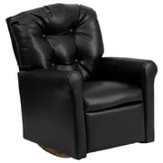 Flash Furniture Vinyl Kids Rocker Recliner, Black
