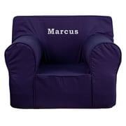 Flash Furniture Cotton Twill Embroidered Oversized Solid Kids Chair, Navy Blue