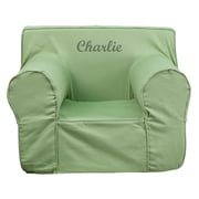 Flash Furniture Cotton Twill Embroidered Oversized Solid Kids Chair, Green