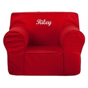 Flash Furniture Cotton Twill Embroidered Oversized Solid Kids Chair, Red