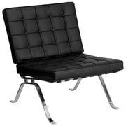 Flash Furniture Hercules Flash Steel Lounge Chair, Black (ZBFLC801CHBK)