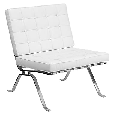 Flash Furniture Hercules Flash Steel Lounge Chair, White (ZBFLC801CHWH)