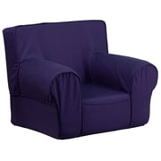 Flash Furniture Cotton Twill Small Solid Kids Chair, Navy Blue