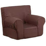 Flash Furniture Cotton Twill Small Solid Kids Chair, Brown