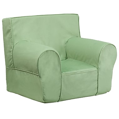 Flash Furniture Cotton Twill Small Solid Kids Chair, Green