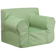 Flash Furniture Cotton Twill Oversized Solid Kids Chair, Green