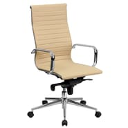 Flash Furniture High-Back Ribbed Leather Executive Office Chairs