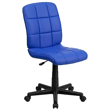 Flash Furniture Plastic Computer and Desk Office Chair, Armless, Blue (GO16911BLUE)