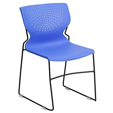 Flash Furniture Hercules Series Polypropylene Stackable Chairs With Black Frame