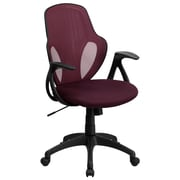 Flash Furniture Mesh Mid-Back Executive Chair, Burgundy