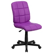 Flash Furniture GO-1691-1-PUR-GG Vinyl Mid-Back Armless Task Chair, Purple