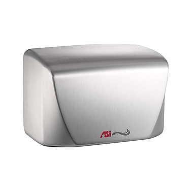 ASI Turbo Dri Junior High Speed Hand Dryer with 15 Second Dry Time, 110 -120V, White Porcelain