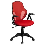 Flash Furniture Mesh Mid-Back Executive Chair, Red