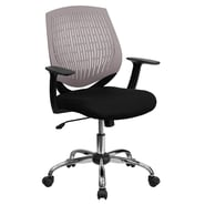 Flash Furniture Mid-Back Padded Foam Fabric Task Chair With Arms, Gray