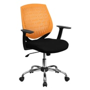 Flash Furniture Mid-Back Padded Foam Fabric Task Chair With Arms, Orange