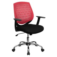 Flash Furniture Mid-Back Padded Foam Fabric Task Chair With Arms, Red