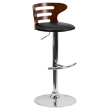 Flash Furniture 40'' Contemporary Adjustable Height Vinyl Bar Stool, Walnut (SD2019WAL)