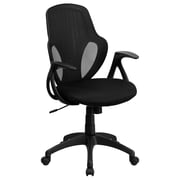 Flash Furniture Mesh Mid-Back Executive Chair, Black