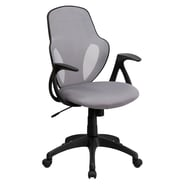 Flash Furniture Mesh Mid-Back Executive Chair, Gray