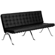 Flash Furniture Hercules Flash Series Leather Sofa, Black