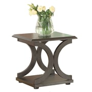 "Coaster® 22"" Wood C-Shaped End Table, Dark Cappuccino"