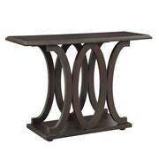 "Coaster® 30"" Wood C-Shaped Sofa Table, Dark Cappuccino"