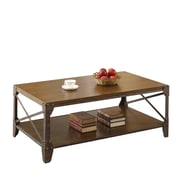 "Coaster® 19"" Wood Coffee Table With X Motif, Medium Brown"