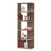Coaster® Wood Semi-Backless Casual Bookshelf, Distressed Grey