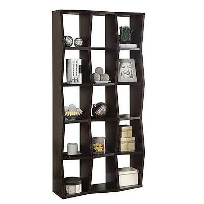 Coaster Wood Asymmetrical Bookshelves