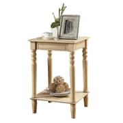 "Coaster® 27 1/4"" Square Accent Table, Antique White"