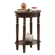 """Coaster® 27 1/4"""" Oval Accent Table, Cherry"""