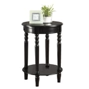"Coaster® 27 1/4"" Round Accent Table, Black"
