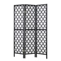 Coaster® 70 1/4in. 3-Panel Folding Screen, Black/White