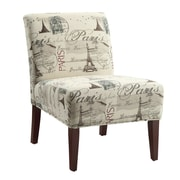 Coaster® Accent Seating Printed Fabric Accent Chair, Beige Postcard Design
