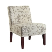 Coaster® Accent Seating Printed Fabric Accent Chair, Taupe/Beige Leaf Design