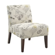 Coaster® Accent Seating Printed Fabric Accent Chair, Beige Signature and Stamp Deisgn