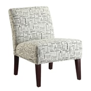 Coaster® Accent Seating Printed Fabric Accent Chair, Beige Names Of States Design
