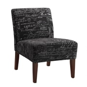 Coaster® Accent Seating Printed Fabric Accent Chair, Black French Design Script