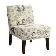 Coaster® Accent Seating Printed Fabric Accent Chair, Beige Script Writing