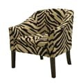 Coaster® Accent Seating Chenille Casual Den Chair With Welt Trim, Tan/Black Tiger Print