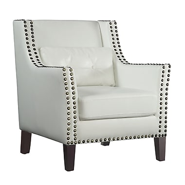 COASTER Leather Accent Chair, White (902225)