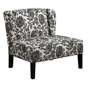 Coaster® Accent Seating Fabric Bench Chair With Wings, Black/Grey Floral