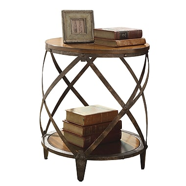 Coaster Metal Accent Table, Brown, Each (903326)