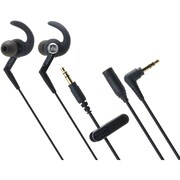 Audio-Technica® ATH-CKP500 SonicSport 40 mW Ergo-Fit Waterproof In-Ear Headphone, Black