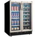 Danby® Silhouette® DBC2760 5 cu.ft. Dual-Zone Beverage Center, Black/Stainless Steel