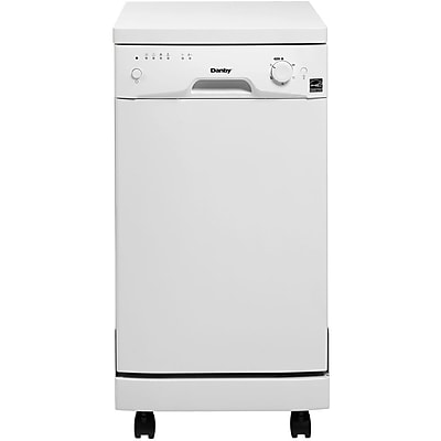 Danby 18 Portable Dishwasher With 6 Wash Cycles , 8.00 Place Settings, White