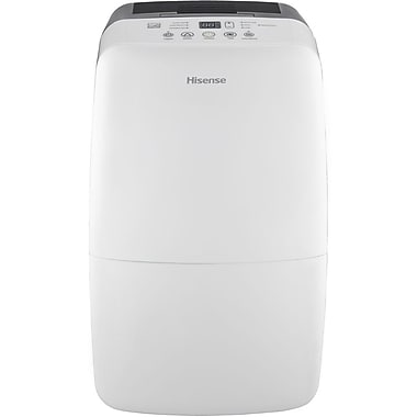 Hisense DH-50KP1SDLE Energy Star 50 Pint 2-Speed Dehumidifier With Built-In Pump, White